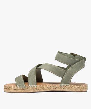 Sandales femme à talon plat et bride enroulée à la cheville - Only Only vue3 - ONLY - Nikesneakers
