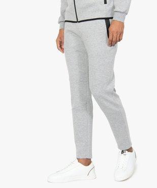 Pantalon homme en maille à taille élastiquée vue1 - GEMO (HOMME) - GEMO