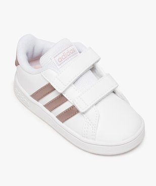 Baskets fille à scratch Grand Court Adidas vue5 - ADIDAS - Nikesneakers