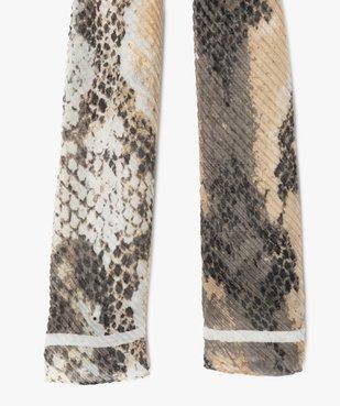 Foulard femme plissé à motif animalier vue2 - GEMO (ACCESS) - GEMO