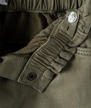 Pantalon bébé fille en toile avec ceinture tressée vue3 - GEMO(BEBE DEBT) - GEMO