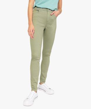 Pantalon femme Skinny taille haute super stretch vue1 - GEMO(FEMME PAP) - GEMO