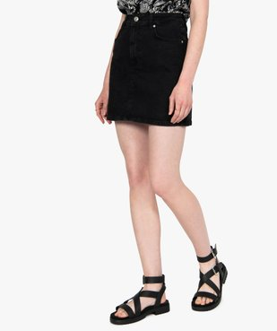 Jupe femme en jean extensible vue1 - GEMO(FEMME PAP) - GEMO