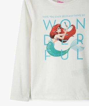 Tee-shirt fille à manches longues avec motif pailleté - Disney vue2 - DISNEY DTR - GEMO