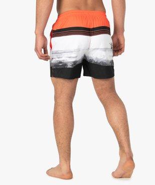 Short de bain homme multicolore vue3 - GEMO (PLAGE) - GEMO