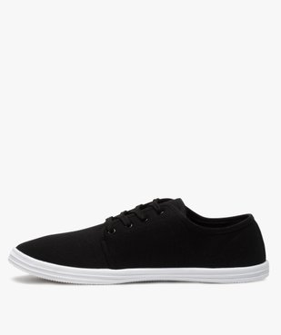 Chaussures basses homme style tennis en toile unies à lacets  vue3 - Nikesneakers (SPORTSWR) - Nikesneakers