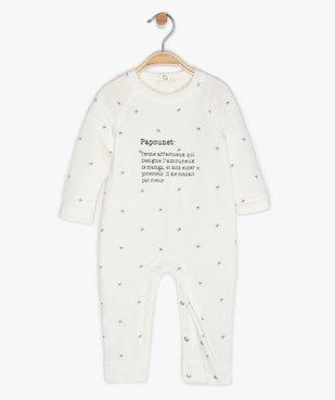 Pyjama bébé sans pieds en jersey imprimé étoiles vue2 - GEMO(BB COUCHE) - GEMO