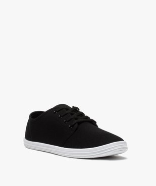 Chaussures basses homme style tennis en toile unies à lacets  vue2 - Nikesneakers (SPORTSWR) - Nikesneakers