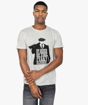 Tee-shirt homme imprimé Thomas Shelby – Peaky Blinders vue1 - PEAKY BLINDERS - GEMO