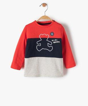 Tee-shirt bébé garçon tricolore – Lulu Castagnette vue1 - LULUCASTAGNETTE - GEMO