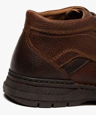 Boots homme à lacets dessus cuir uni  vue6 - GEMO (CASUAL) - GEMO
