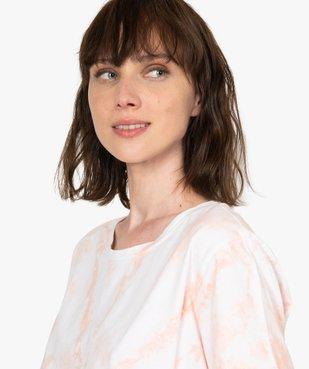 Tee-shirt femme à manches courtes oversize vue2 - GEMO(FEMME PAP) - GEMO