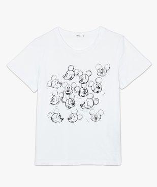 Tee-shirt femme à manches courtes motif Mickey - Disney vue4 - DISNEY DTR - GEMO