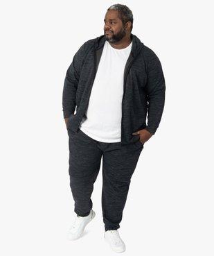 Pantalon homme en maille chinée à poches zippées vue5 - GEMO (G TAILLE) - GEMO
