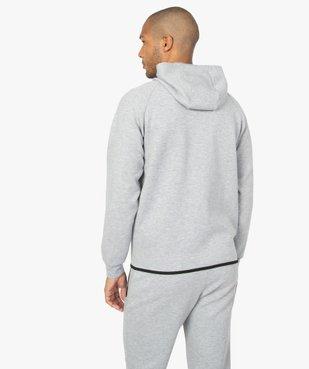 Sweat homme zippé à capuche et poches zippées vue4 - GEMO (HOMME) - GEMO