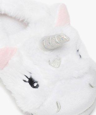 Chaussons fille 3D en forme de licorne  vue6 - GEMO C4G FILLE - GEMO