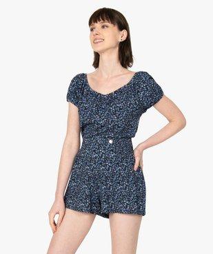 Haut de pyjama femme à motifs fleuris – Lulu Castagnette vue5 - LULUCASTAGNETTE - GEMO