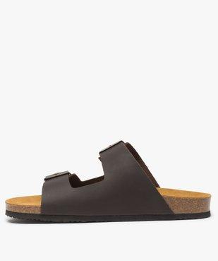 Sandales homme en cuir à larges brides à boucle vue3 - Nikesneakers (CASUAL) - Nikesneakers