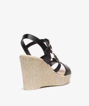 Sandales femme à talon compensé et anneau métallique vue4 - GEMO(URBAIN) - GEMO