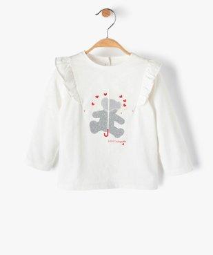 Tee-shirt bébé fille avec motifs pailleté – Lulu Castagnette vue1 - LULUCASTAGNETTE - GEMO
