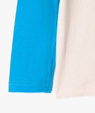 Tee-shirt garçon à manches longues multicolore à motif velours vue4 - GEMO (ENFANT) - GEMO