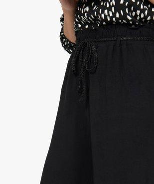 Pantalon femme large et fluide avec ceinture tressée vue2 - GEMO(FEMME PAP) - GEMO