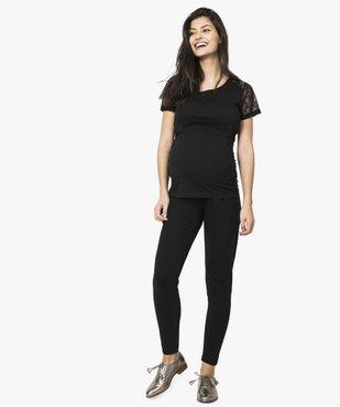 Tee-shirt de grossesse en coton bio avec manches en dentelle vue5 - GEMO C4G MATERN - GEMO