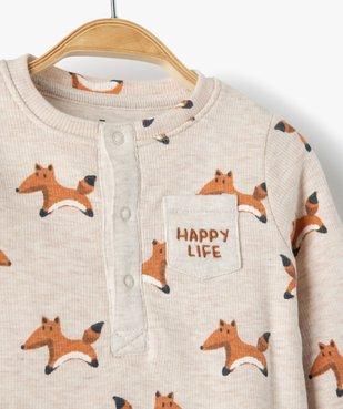 Body bébé à manches longues effet tee-shirt vue2 - GEMO(BB COUCHE) - GEMO