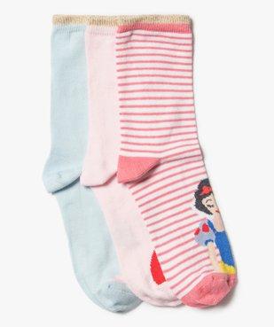 Chaussettes fille tige haute imprimées - Princesses Disney (lot de 3) vue1 - DISNEY DTR - Nikesneakers
