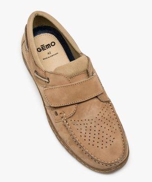 Chaussures bateau homme à scratch dessus perforé vue5 - GEMO (CONFORT) - GEMO