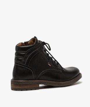 Boots homme zippés à lacets dessus cuir et col rembourré vue3 - Nikesneakers (CASUAL) - Nikesneakers