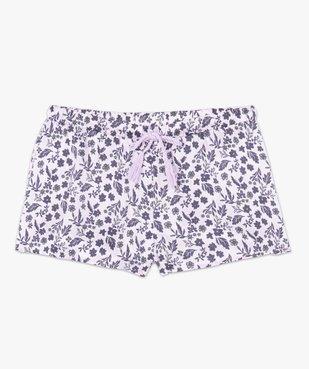 Short de pyjama femme en matière satinée imprimée vue4 - GEMO(HOMWR FEM) - GEMO