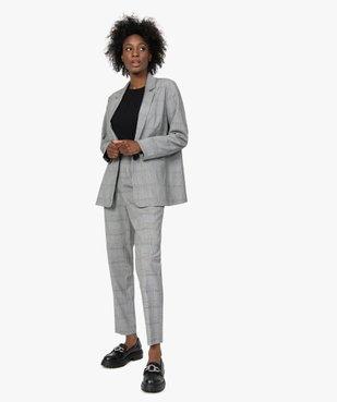 Pantalon femme à motif Prince de Galles taille haute vue5 - GEMO(FEMME PAP) - GEMO