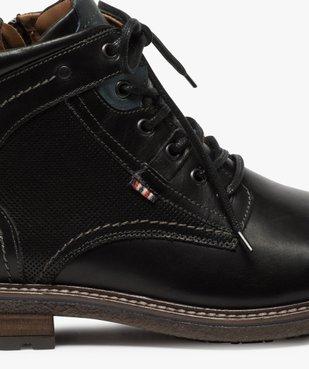 Boots homme zippés à lacets dessus cuir et col rembourré vue6 - Nikesneakers (CASUAL) - Nikesneakers