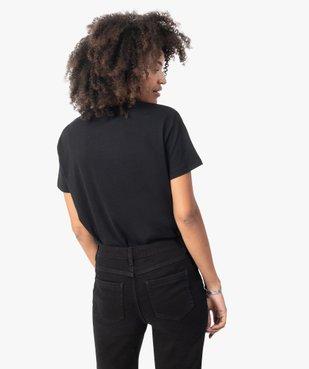 Tee-shirt femme à manches courtes avec motif tête de mort vue3 - GEMO(FEMME PAP) - GEMO