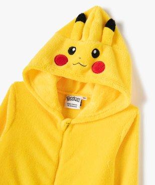 Combinaison pyjama garçon zippée Pikachu - Pokemon vue2 - POKEMON - GEMO