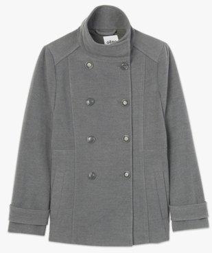 Manteau court femme avec double rangée de boutons vue4 - Nikesneakers(FEMME PAP) - Nikesneakers