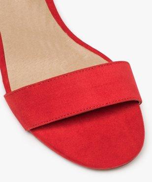 Sandales femme à talon large et bride cheville dessus suédine vue6 - GEMO(URBAIN) - GEMO