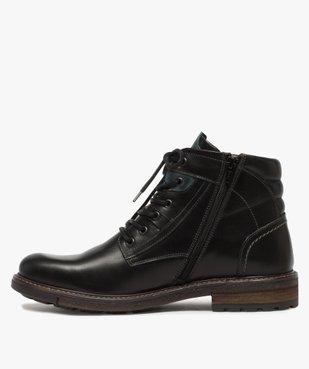 Boots homme zippés à lacets dessus cuir et col rembourré vue4 - Nikesneakers (CASUAL) - Nikesneakers