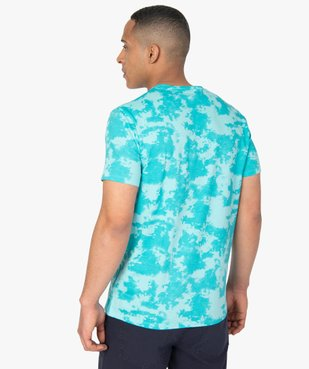 Tee-shirt homme tie-and-dye à manches courtes - Rick and Morty vue3 - RICK ET MORTY - GEMO