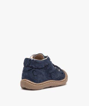 Chaussures premiers pas bébé fille dessus cuir retourné vue4 - Nikesneakers(BEBE DEBT) - Nikesneakers