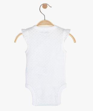 Body bébé fille sans manches fermeture croisée  vue3 - GEMO C4G BEBE - GEMO