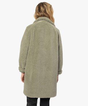 Manteau femme en sherpa fermeture boutons vue3 - Nikesneakers(FEMME PAP) - Nikesneakers