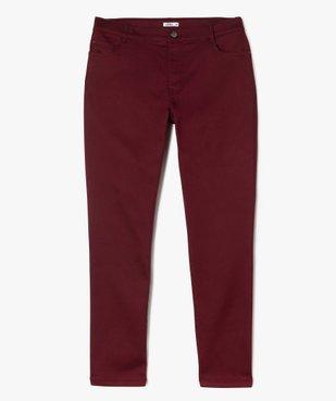 Pantalon femme coupe slim en maille extensible vue1 - GEMO (G TAILLE) - GEMO