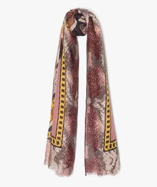 Foulard femme multicolore avec motifs chaines vue1 - Nikesneakers (ACCESS) - Nikesneakers