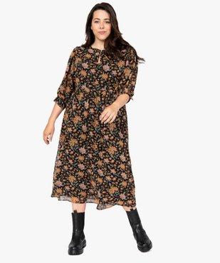 Robe femme longue à motifs fleuris et manches amples  vue5 - GEMO (G TAILLE) - GEMO