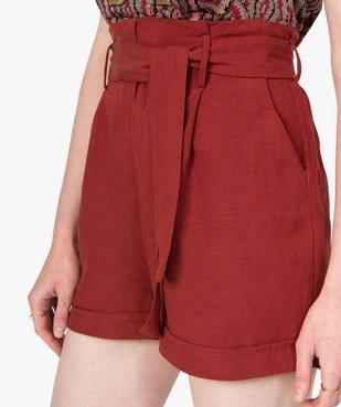 Short femme ample à ceinture vue2 - GEMO(FEMME PAP) - GEMO
