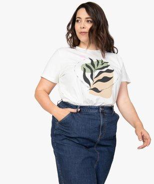 Tee-shirt femme à manches courtes imprimé vue1 - GEMO (G TAILLE) - GEMO