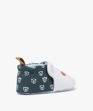 Chaussons de naissance bébé garçon imprimés tête d'ours vue4 - Nikesneakers(BB COUCHE) - Nikesneakers