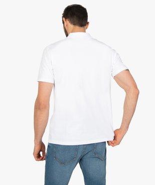 Polo homme uni sans boutons à manches courtes vue3 - GEMO (HOMME) - GEMO